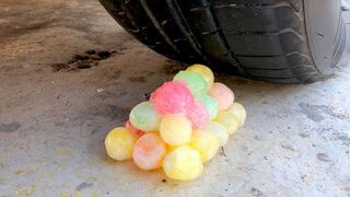 Crushing Crunchy & Soft Things by Car -EXPERIMENTS: Car vs Freeze Jelly Ball