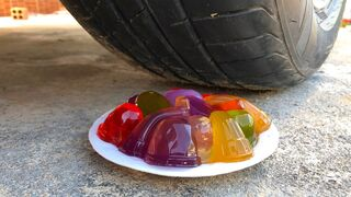 Crushing Crunchy & Soft Things by Car -EXPERIMENTS: CAR VS JELLY COLORS, ...