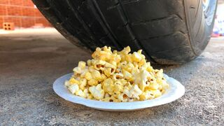 Crushing Crunchy & Soft Things by Car -EXPERIMENTS: CAR VS POPCORN, TOYS