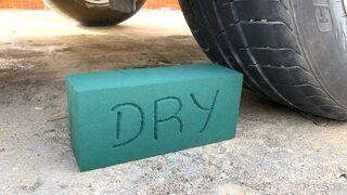 Crushing Crunchy & Soft Things by Car -EXPERIMENTS: CAR VS DRY SPONGE, TOYS
