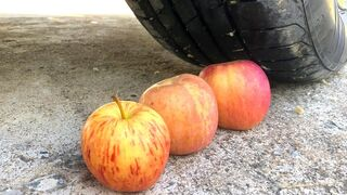 Crushing Crunchy & Soft Things by Car -EXPERIMENTS: CAR VS APPLE, TOYS