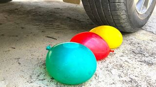 Crushing Crunchy & Soft Things by Car -EXPERIMENTS: CAR VS BALLOON, APPLE