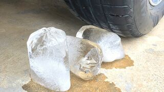 Crushing Crunchy & Soft Things by Car -EXPERIMENTS: CAR VS ICE, VEGETABLE