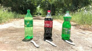 Crushing Crunchy & Soft Things by Car -EXPERIMENTS: COCA COLA, FANTA, SPRITE VS MENTOS