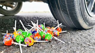 Crushing Crunchy & Soft Things by Car! EXPERIMENT CAR VS LOLLIPOPS