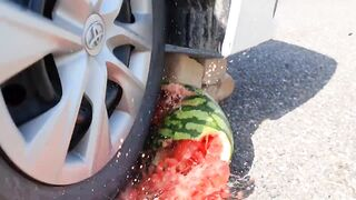 Crushing Crunchy & Soft Things by Car! Experiment Car vs Lighters Watermelon