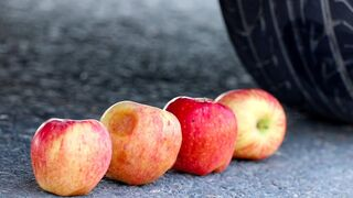 Crushing Crunchy & Soft Things by Car! EXPERIMENT CAR VS APPLES