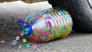 Crushing Crunchy & Soft Things by Car! EXPERIMENT CAR vs GAINT ORBEEZ BOTTLE