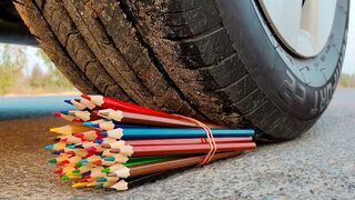 Top 25 Crushing Crunchy & Soft Things by Car! EXPERIMENT CAR vs Wooden Crayons Test