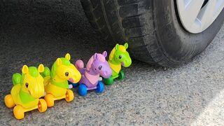 Experiment: Car vs Toy Horse
