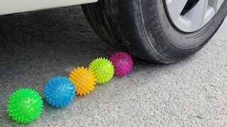Experiment: Car vs Spikeballs