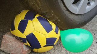 SOCCER BALL VS CAR CRUSHING EXPERIMENT