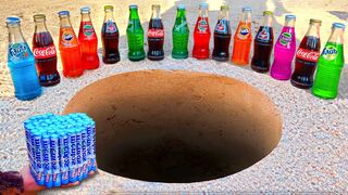 Fanta, Coca Cola, Sprite, Pepsi, Limca, Schweppes and Many Other Sodas vs Mentos Underground