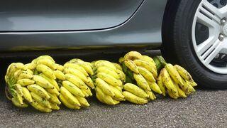 Crushing Crunchy & Soft Things By Car !- FRUITS vs CAR