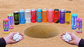 EXPERIMENT: Monster Sodas and Mentos Underground