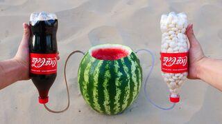 Experiment: Watermelon vs Cola and Mentos