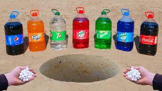 Big Cola, Fanta, Pepsi, Sprite, Mirinda, 7up and Mentos Underground