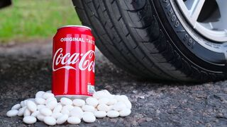 Crushing Crunchy & Soft Things by Car! - Coca-Cola and Mentos