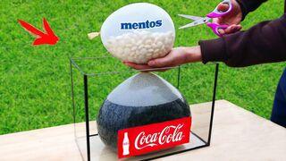 EXPERIMENT: A lot of Mentos and Coca-Cola