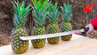 EXPERIMENT: Katana VS Pineapples