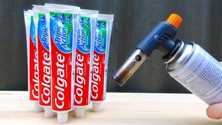 EXPERIMENT: GAS TORCH VS TOOTHPASTE
