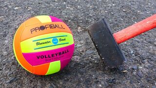 EXPERIMENT: HAMMER VS VOLLEYBALL