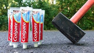 EXPERIMENT: HAMMER VS TOOTHPASTE