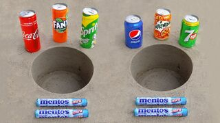 Coca Cola, Fanta, Sprite, Pepsi, Mirinda, 7 up vs Mentos!