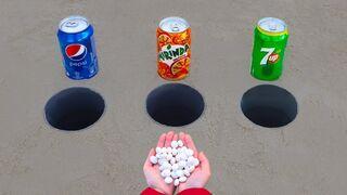 Pepsi, Mirinda, 7up vs Mentos!