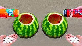 Fanta vs Coca Cola in Watermelon!