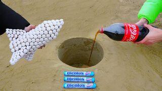 Mentos Rocket vs Coca Cola