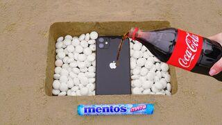 Coca Cola and Mentos vs iPhone