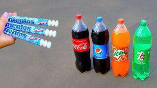 Coca Cola, Pepsi, Mirinda, 7 Up vs Mentos!