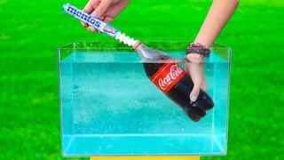 Mentos vs Coca Cola  under Water !