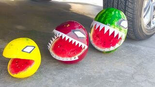 Experiment Car vs  Watermelon  Crushing Crunchy & Soft Things by Car