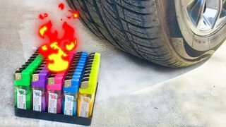 Experiment Car vs Lighters and Balloons  Crushing Crunchy & Soft Things by Car
