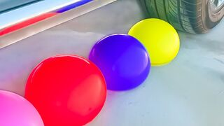 Experiment Car vs Water Balloons  Crushing crunchy & soft things by car
