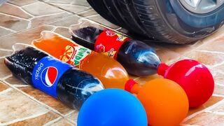 Experiment Car vs Soft Drink and Balloons  Crushing Crunchy & Soft Things by Car