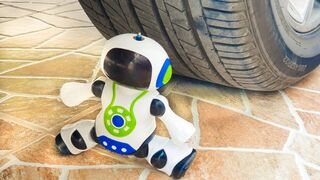 Experiment Car vs Robot Toy | Crushing Crunchy & Soft Things by Car