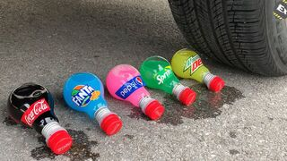 Experiment Car vs Coca, Sprite, Fanta and Mentos | Crushing Crunchy & Soft Things by Car | Test Ex