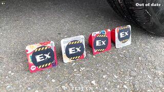 Police Car vs Pepsi, Coca cola, Sprite, Fanta | Crushing Crunchy & Soft Things by Car | Test Ex #215