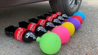 Experiment Coca, Fanta, Pepsi, Sprite vs Balloons | Crushing Crunchy & Soft Things by Car | Test Ex