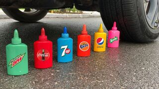 Experiment Car vs  Coca Cola & Stretch Armstrong | Crushing Crunchy & Soft Things by Car | Test Ex