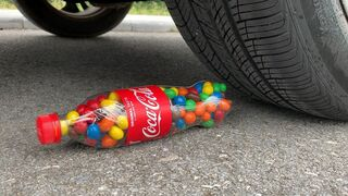 Experiment Car vs Coca Cola vs M&M Candy, Skittles | Crushing Crunchy & Soft Things by Car | Test Ex