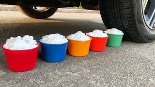 Experiment Car vs Coca-Cola, Fanta, Sprite, Mentos   Crushing Crunchy & Soft Things by Car   Test Ex