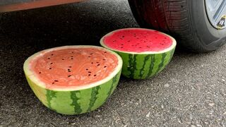 Experiment Car vs Watermelon Slime Challenge | Crushing Crunchy & Soft Things by Car | Test Ex
