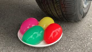 Experiment Car vs Colorful Jelly Eggs | Crushing crunchy & soft things by car | Test Ex