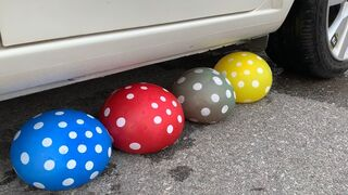 TOP 10 Experiments Car vs Balloons | TOP 10 Crushing crunchy & soft things by car | Test Ex