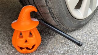 Experiment Car vs Pumpkin Toy | Crushing crunchy & soft things by car | Test Ex