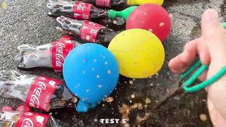 Experiment Coca Cola, Pepsi, Fanta, Mirinda Balloons | Crushing Crunchy & Soft Things by Car | #57